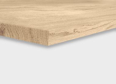 Tischplatte Eiche 25 mm (1 Schicht)