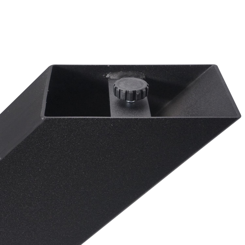 Tischbeine Y Metall SET (2 Stück) - 10x10 cm - 72 cm breit - 72 cm hoch - Y-form Tischkufen / Tischgestell beschichtet - Schwarz