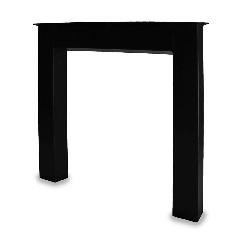 Tischbeine N Metall SET (2 Stück) - 10x10 cm - 78 cm breit - 72 cm hoch - U-form Tischkufen / Tischgestell beschichtet - Schwarz -
