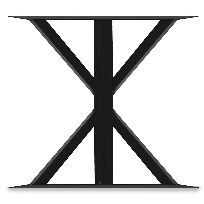 Ländliche Tischbeine Metall SET (2 Stück) - 10x10 cm - 78 cm breit - 72 cm hoch - Rural Tischkufen / Tischgestell beschichtet - Schwarz