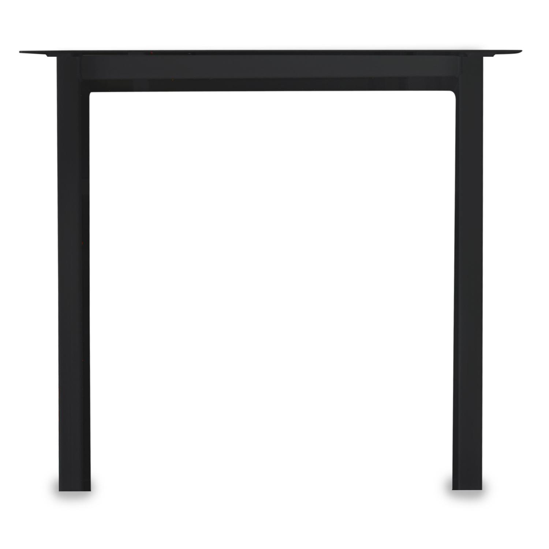Tischbeine N Metall elegant SET (2 Stück) - 10x4 cm - 70-78 cm breit - 72 cm hoch - N-form Tischkufen / Tischgestell beschichtet - Schwarz