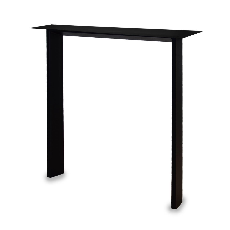 Tischbeine N Metall schlank - SET (2 Stück) - 2x10 cm - 67 cm breit - 72 cm hoch - N-form Tischkufen / Tischgestell beschichtet - Schwarz