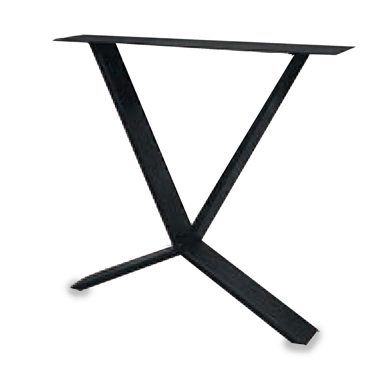 Tischbeine X-Spezial Metall schlank - SET (2 Stück) - 2x10 cm - 78 cm breit - 72 cm hoch - Schere X-form Tischkufen / Tischgestell beschichtet - Schwarz