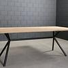 Tischgestell Metall 3D X-Beine Frame rund - 3-Teilig - 4,2 cm - 70x196 cm - 72cm hoch - Stahl Tischuntergestell - Rechteck - Beschichtet - Schwarz