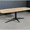 Tischgestell Metall 4-Fuß - 80x180 cm breit - 72cm hoch - Rohrprofil: 11,4 cm - Mehrteilig - Stahl Tischfuß / Mittelfuß - Rechteckig / Oval - Beschichtet - Schwarz
