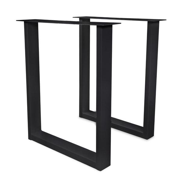 Stehtisch / Bartisch Beine U Metall Elegant SET (2 Stück) - 4x10 cm - 78 cm breit - 106 cm hoch - Schwarz