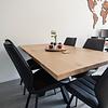 Tischplatte Eiche nach Maß - Aufgedoppelt - 5 cm dick (2-lagig) - Eichenholz rustikal - Eiche Tischplatte massiv - verleimt & künstlich getrocknet (HF 8-12%) - 50-120x50-300 cm
