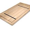 Tischplatte Eiche nach Maß - Aufgedoppelt - 4 cm dick (2-lagig) - Eichenholz rustikal - Eiche Tischplatte massiv - verleimt & künstlich getrocknet (HF 8-12%) - 50-120x50-300 cm - Gebürstet
