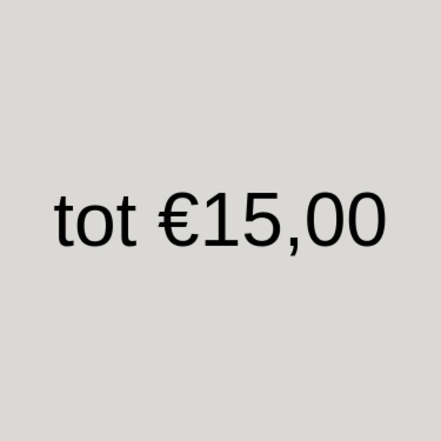 tot 15 euro