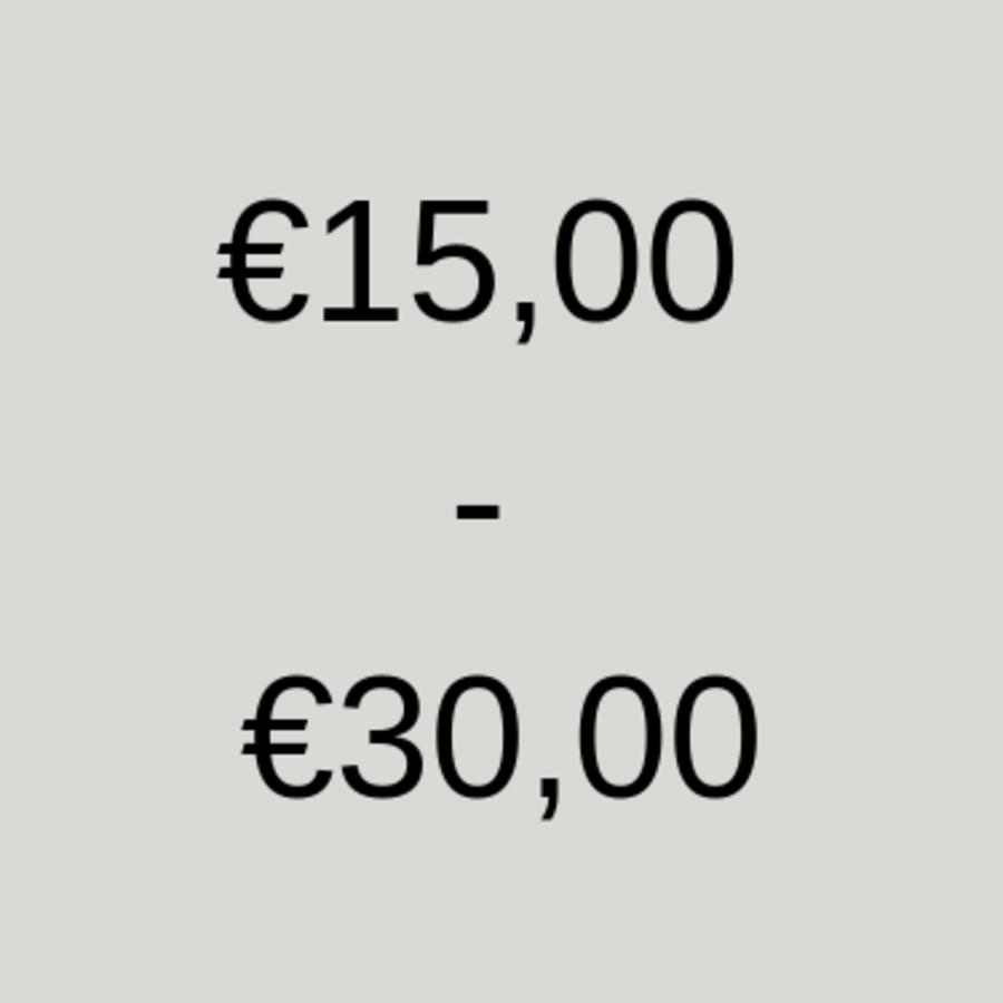 15 tot 30 euro