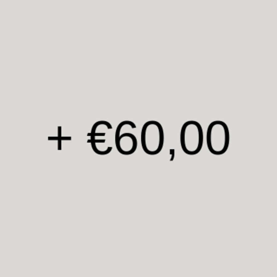 60 euro of meer