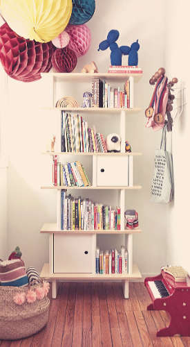De boekenkast van Oeuf