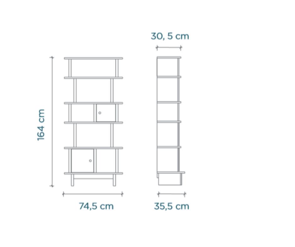 Afmetingen Vertical Mini Library Oeuf