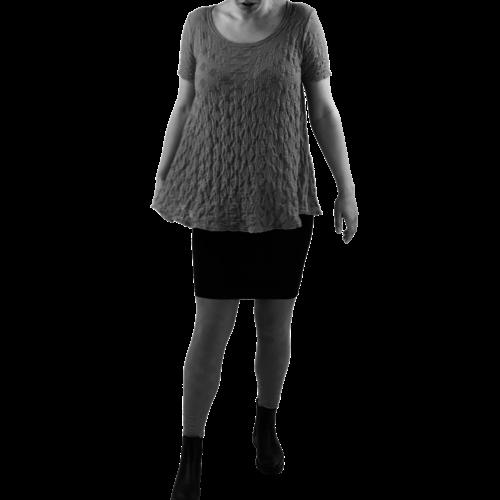 2057  A-lijn shirt balletje k.m.