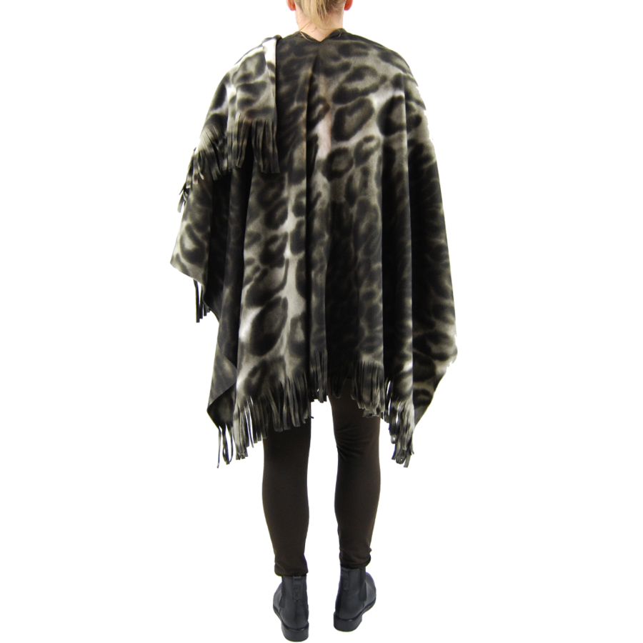 Poncho fleece print-5