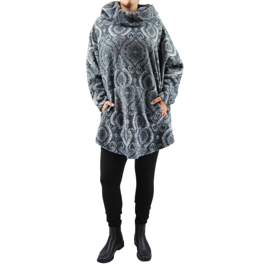 Kangoeroe trui fleece melee-2