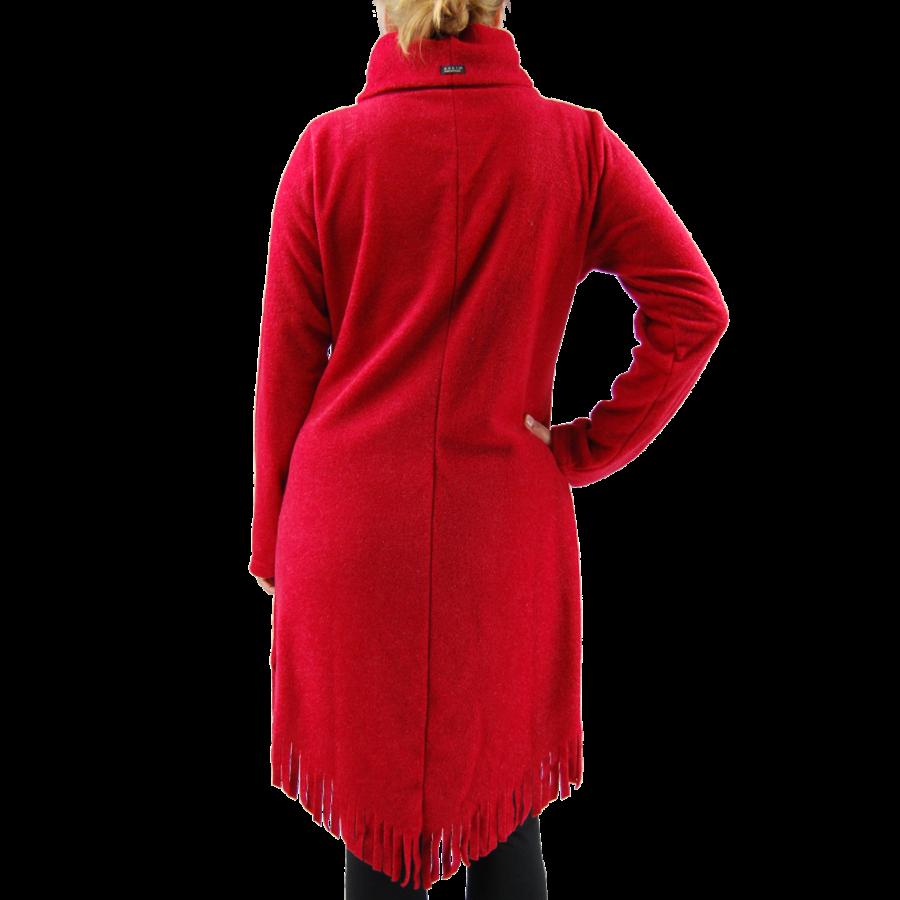 Trui franjes lang fleece melee-4