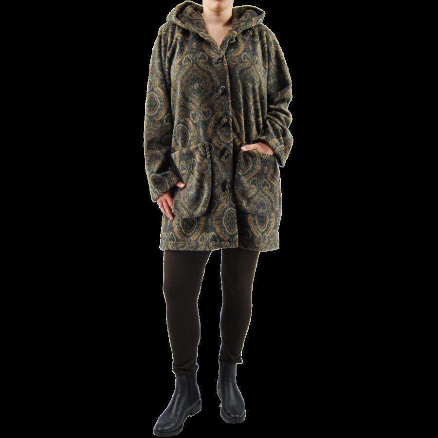 3/4 Vest cap. zakken  fleece mêlee-2