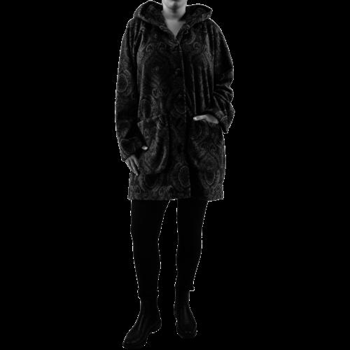 1100.1  3/4 Vest cap. zakken  fleece mêlee