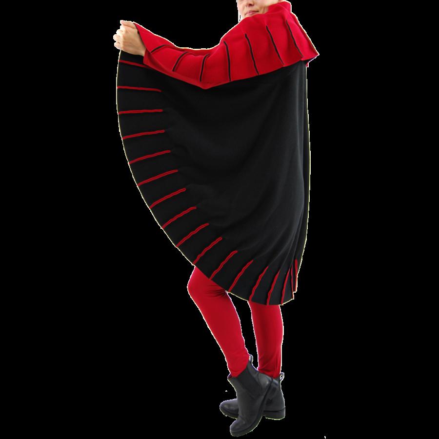 Poncho naden fleece-2
