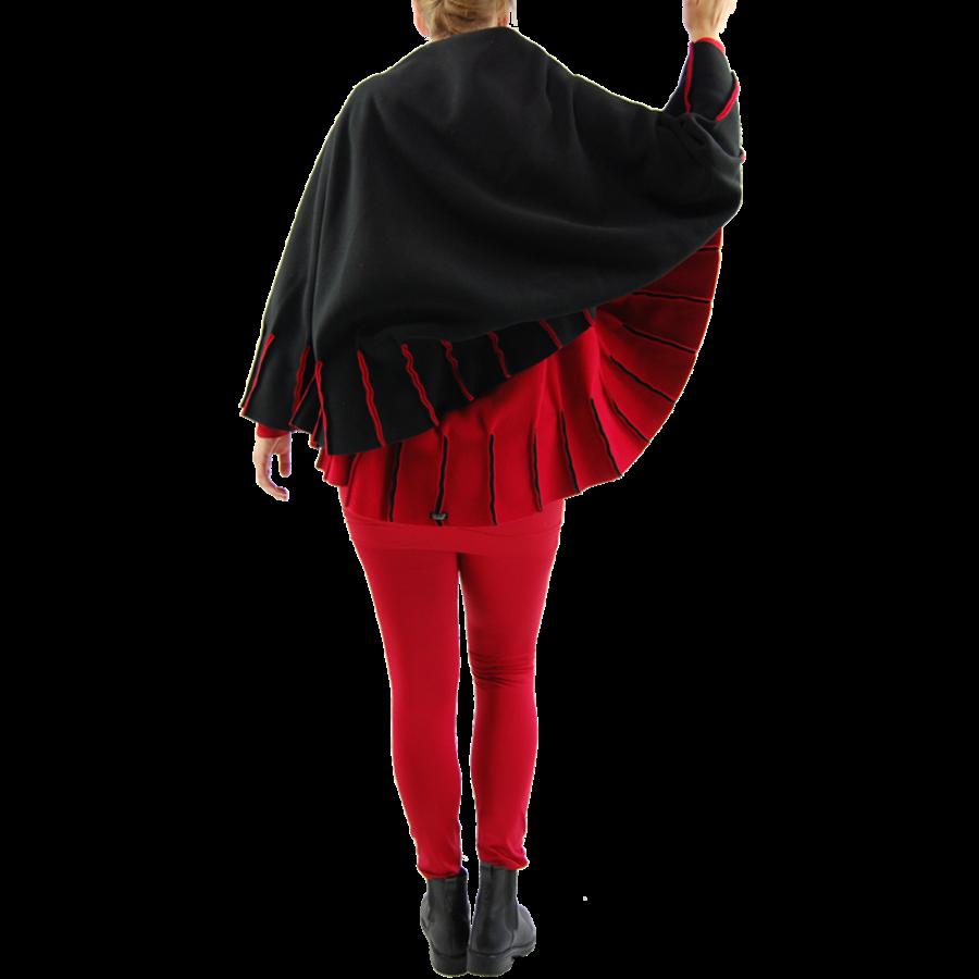 Poncho naden fleece-6