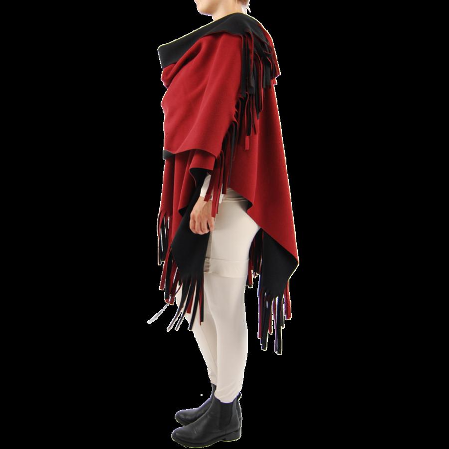 Poncho Rev. incl. sjaal-4