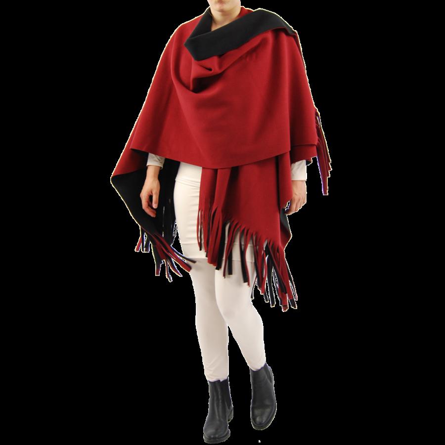 Poncho Rev. incl. sjaal-2