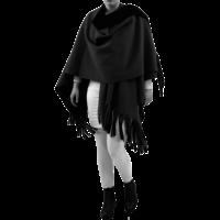 thumb-Poncho Rev. incl. sjaal-1