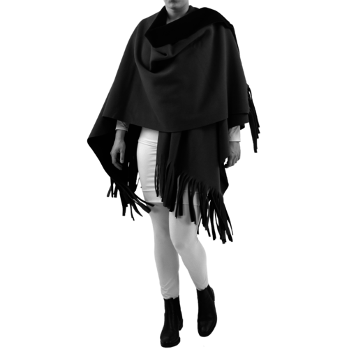 8092 Poncho Rev. incl. sjaal