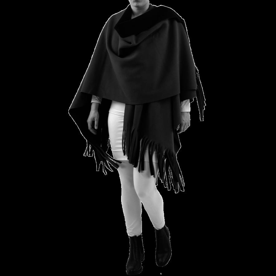 Poncho Rev. incl. sjaal-1