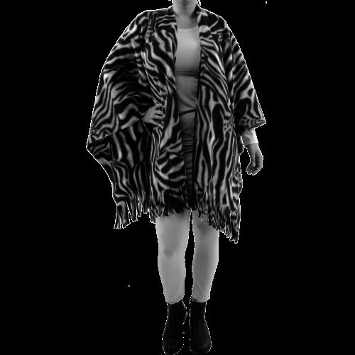 8094.3 Poncho fleece print