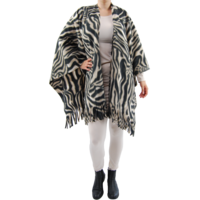 thumb-Poncho fleece print-2