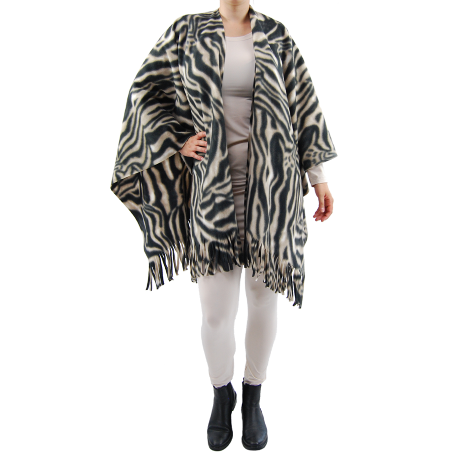 Poncho fleece print-2