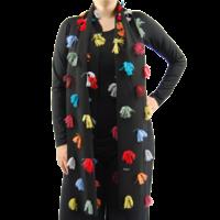 thumb-Sjaal kleurtjes multi color-3