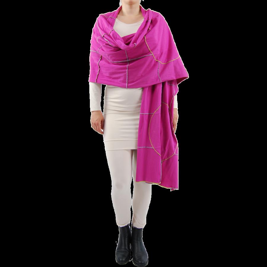 Sjaal gekleurde stiksels-2