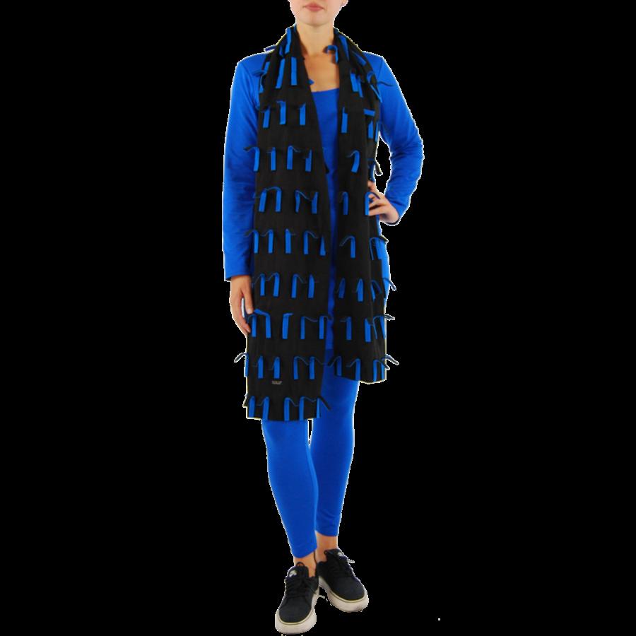 Sjaal strookjes fleece-2