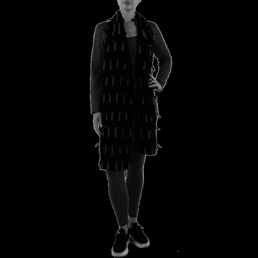 Sjaal strookjes fleece-1