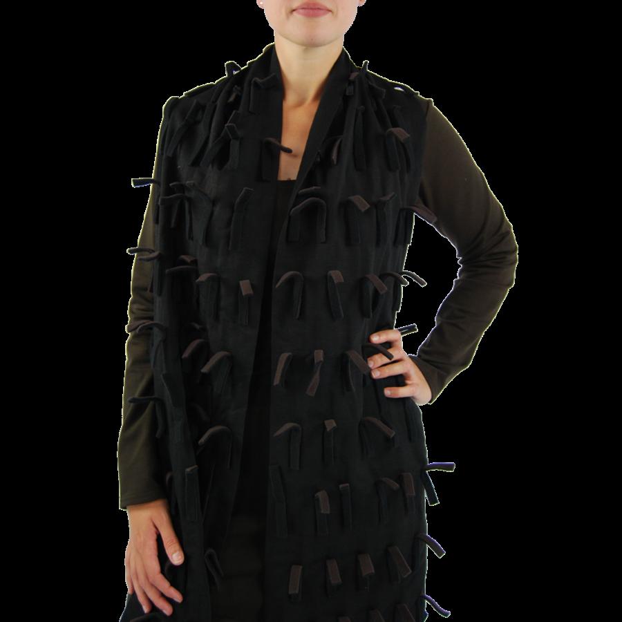 Sjaal strookjes fleece-3