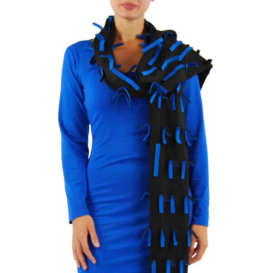 Sjaal strookjes fleece-4