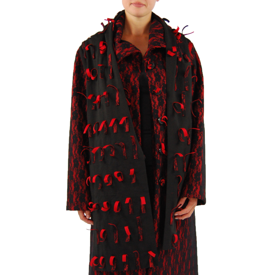 Sjaal strookjes kant-2