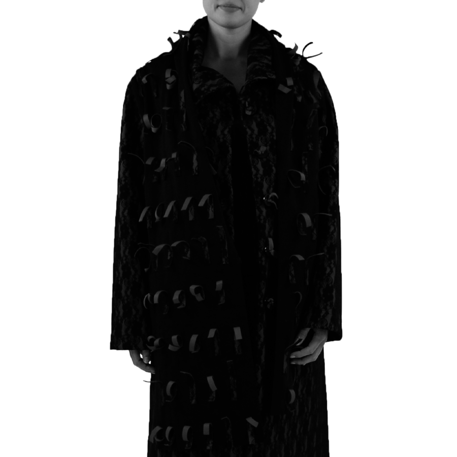 Sjaal strookjes kant-1