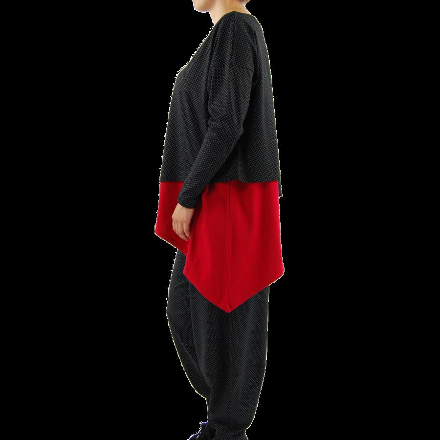 Wijd shirt Asymmetrisch-4