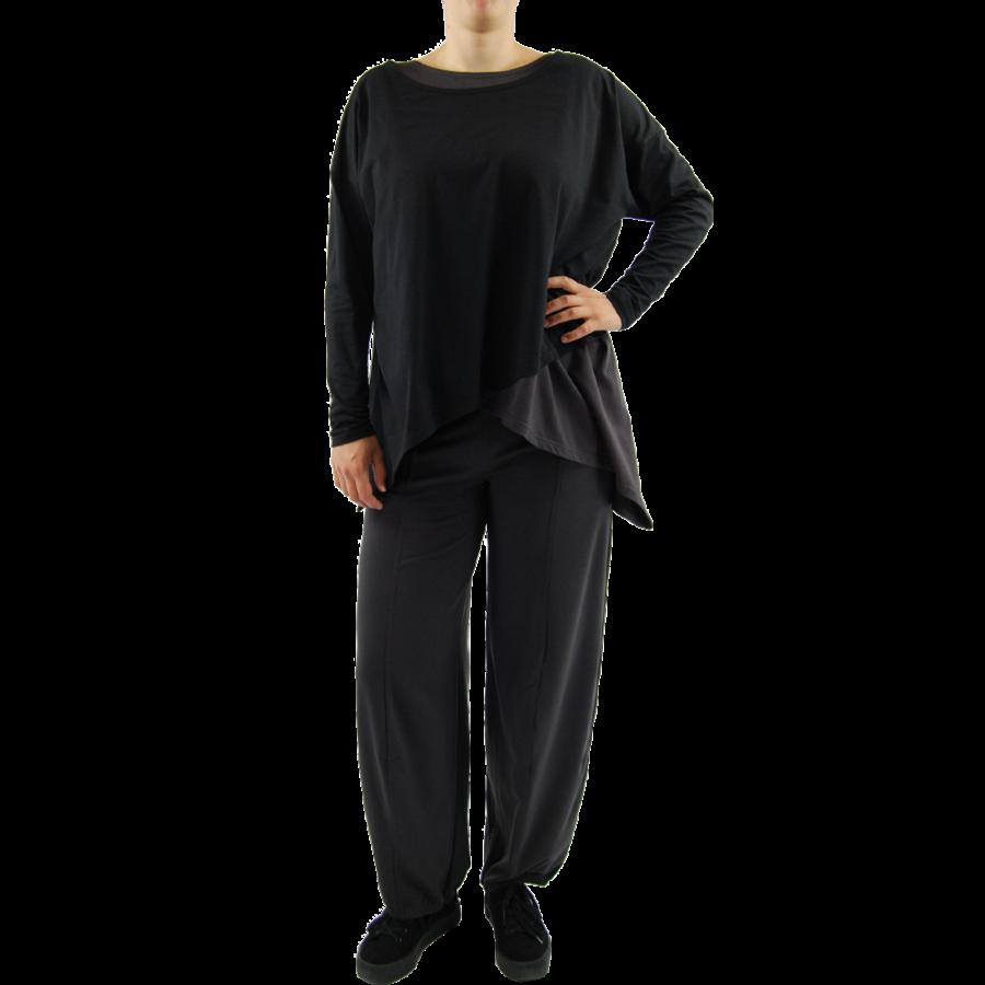 Wijd shirt Asymmetrisch-5