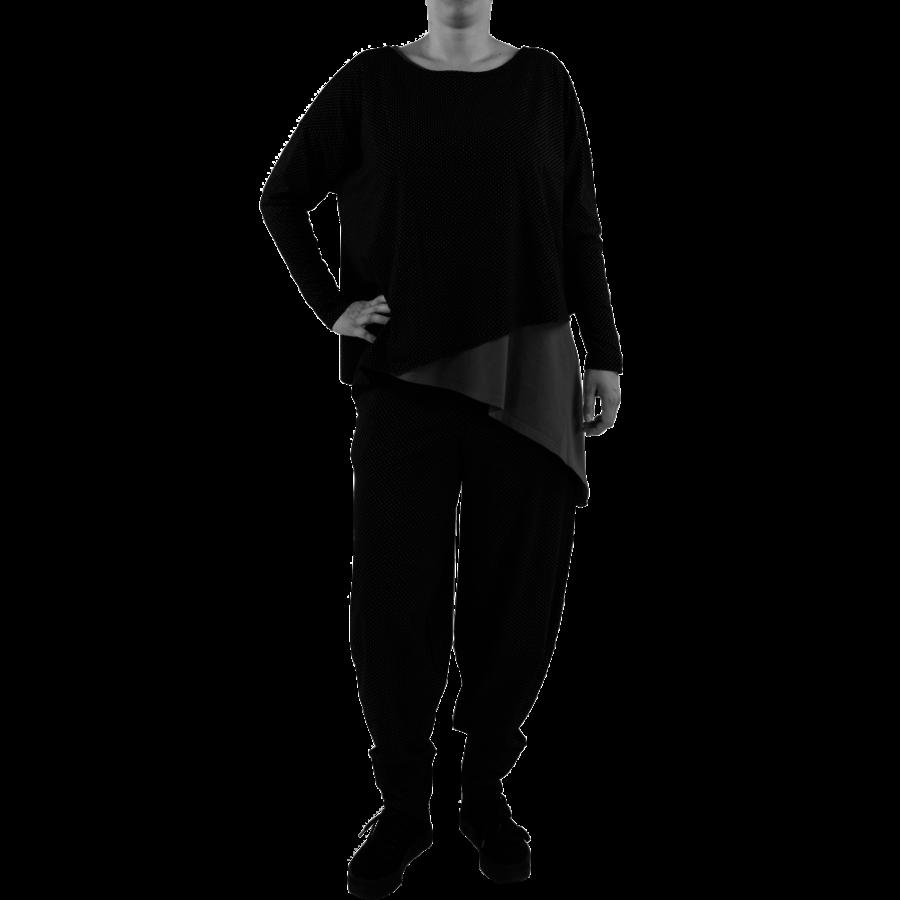 Wijd shirt Asymmetrisch-1
