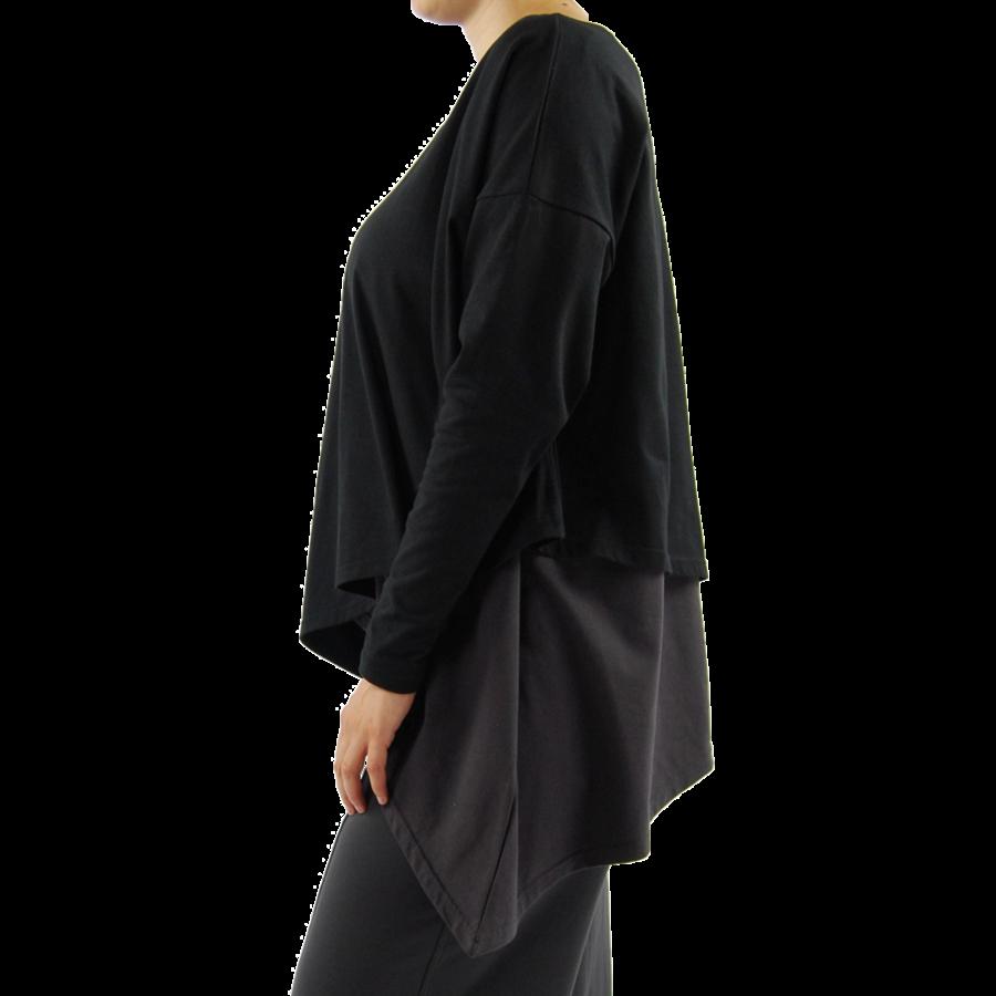Wijd shirt Asymmetrisch-6