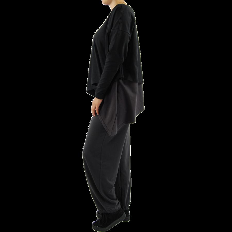 Wijd shirt Asymmetrisch-3