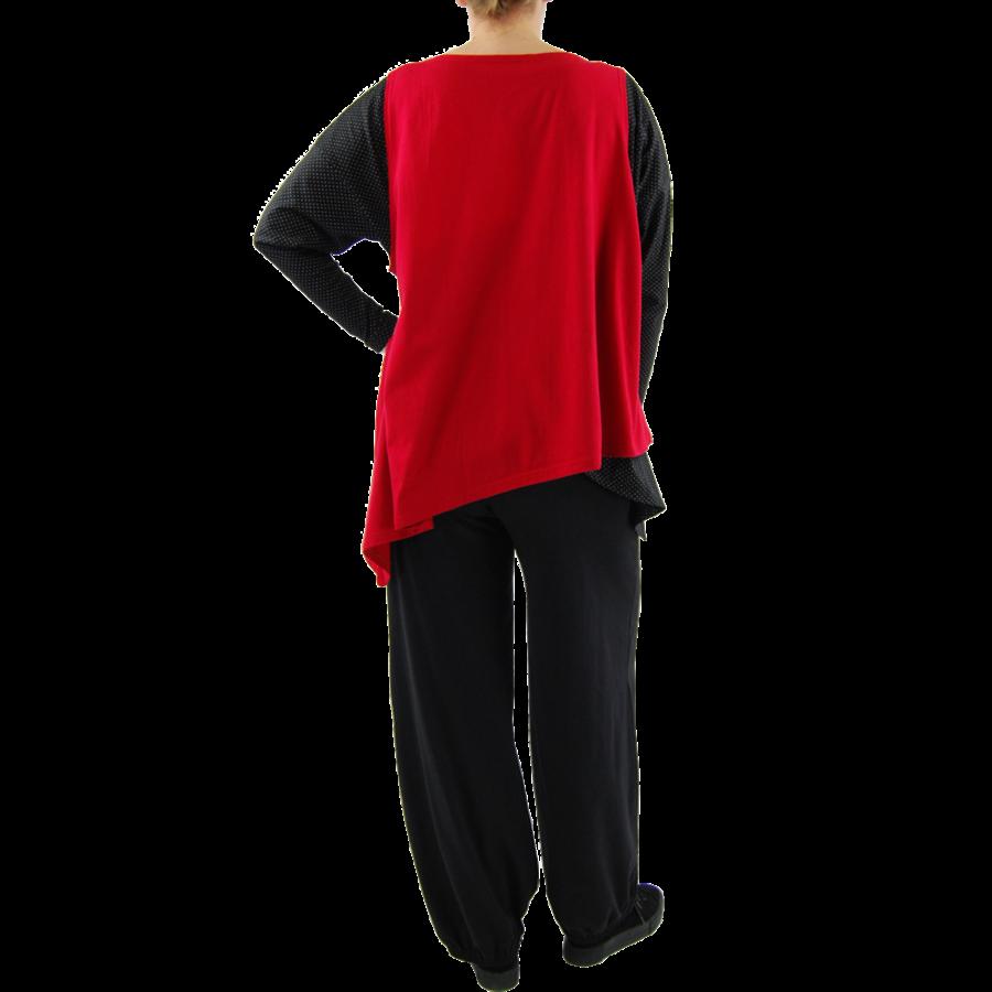 Wijd shirt Asymmetrisch-7