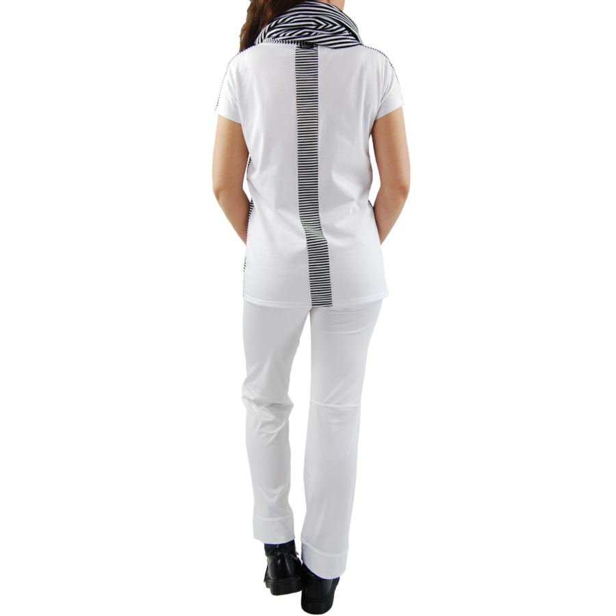 T-shirt combi streep-3