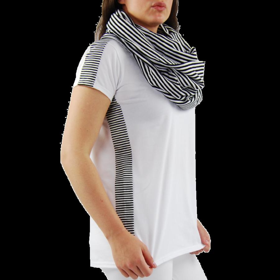 T-shirt combi streep-4