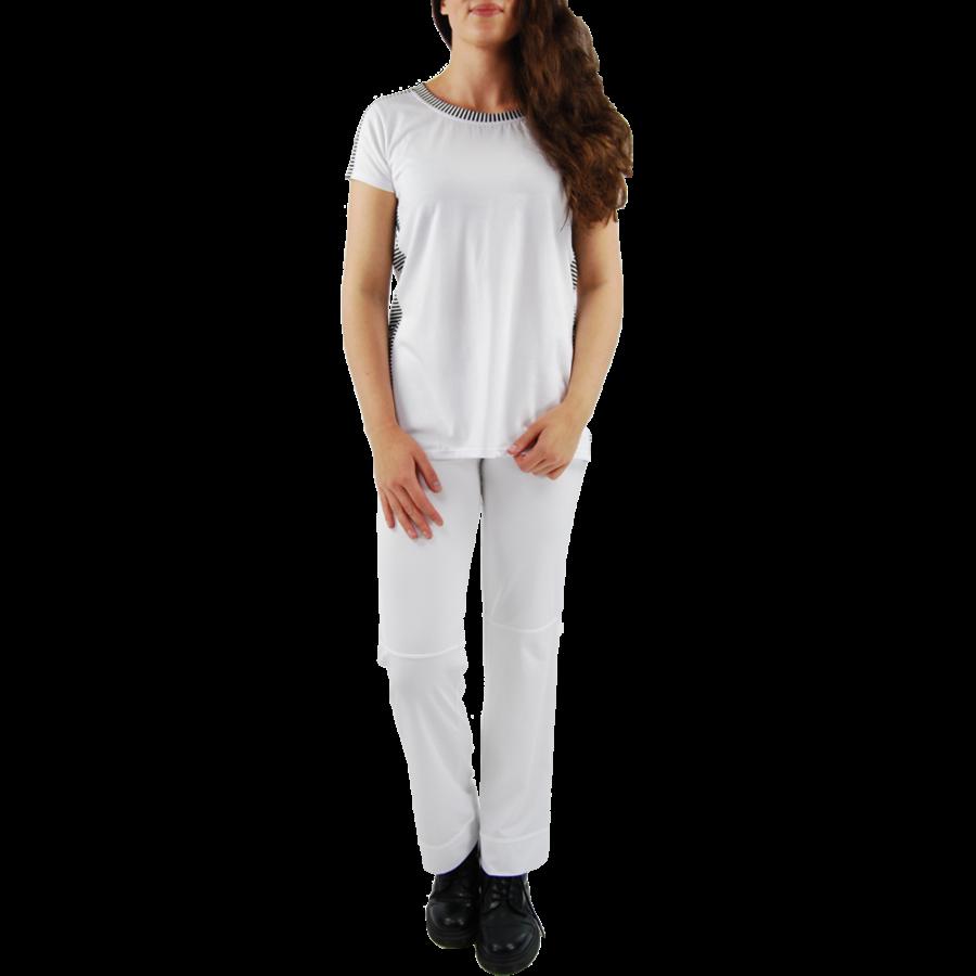 T-shirt combi streep-2